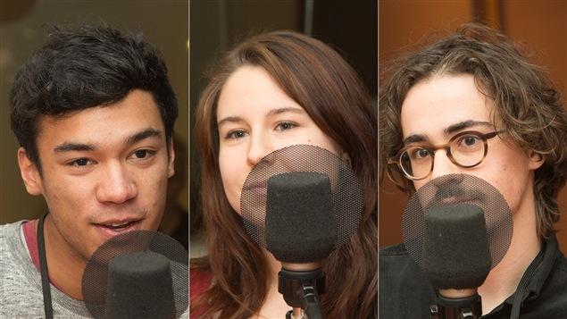 Paolo Mernin, Juliane Choquette-Lelarge et Alexis Curodeau-Coderre