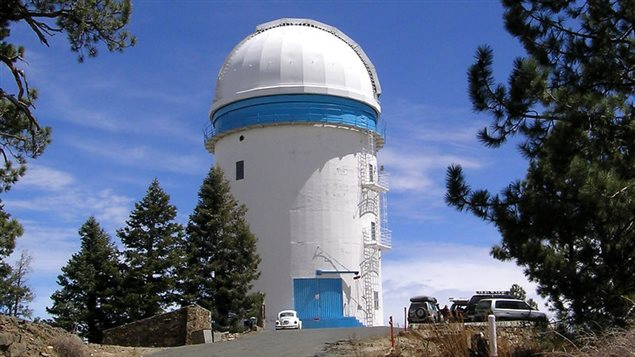 The building housing the 2.12m telescope installed in San Pedro Martir National Observatory, Baja California, Mexico, the largest of three on the mountain