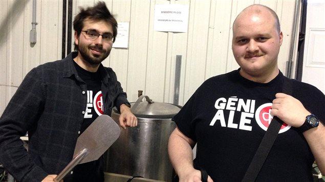 Guillaume Blondin et François Xavier Fortier de l'évènement Saveurs de génie
