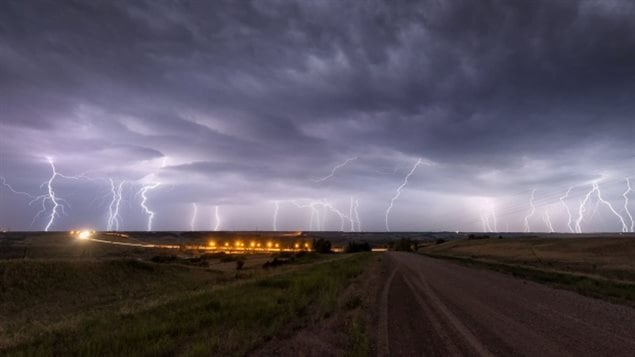 June 2015 Photographer Jeff Wizniak took this photo Friday night near Borden, Saskatchewan. The SMO released a provisional statement saying 2015 will be the warmest year on record and that the probablilty of extreme weather events over time has been increased by human induced climate change
