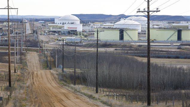 The Enbridge pipeline facility in Hardisty, Alta., is seen on Friday, Nov. 6, 2015.