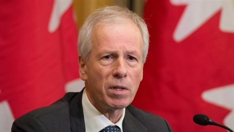 Foreign Affairs Minister Stéphane Dion speaks with the media ahead of the Commonwealths heads of government meeting on Thursday in Valletta, Malta. He later said Canada's contribution to the developing country climate fund is