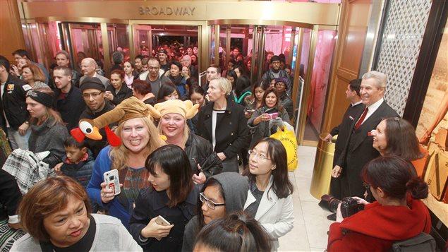 Ils étaient nombreux à l'ouverture du magasin Macy's à New York.