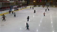 L'aréna de Paspébiac en Gaspésie