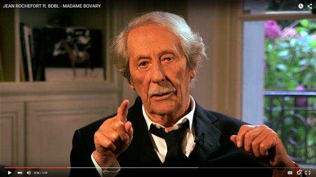 Saisie d'écran d'une vidéo de Jean Rochefort sur YouTube