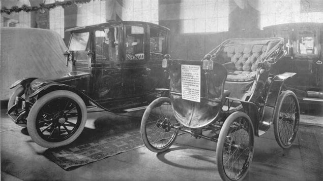 Canada's first, and one of the world's first (and much better than rivals) electric car on display at at Toronto auto show in 1912