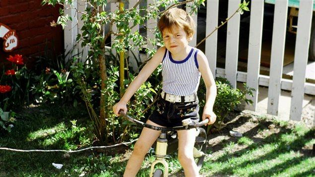 Le frère d'André-Line Beauparlant lorsqu'il était enfant.