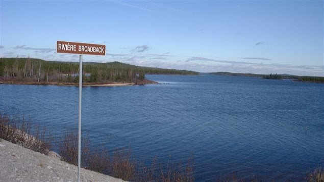 Broadback River and watershed. The Cree inhabitants say the are should be protected from logging and other development.