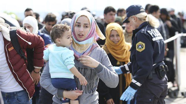 Des réfugiés syriens en Slovénie