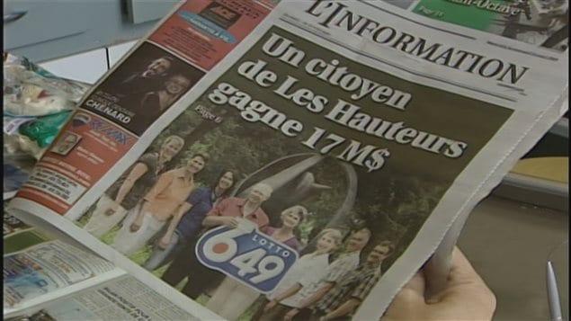 La une du journal L'Information (archives),  Un comité parlementaire lance une étude majeure sur la façon dont les Canadiens obtiennent leur information sur leur communauté et leur région.
