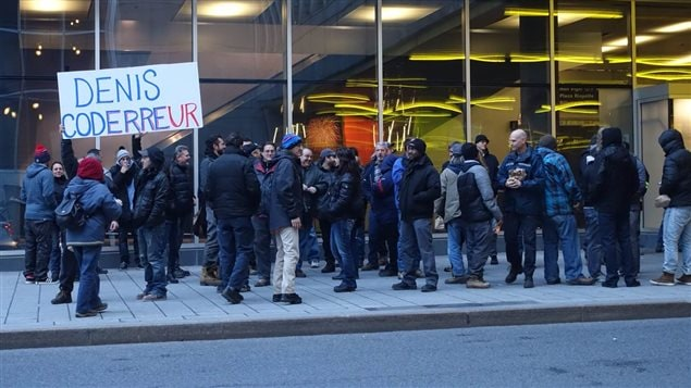 Manifestation des cols bleus de Montréal.