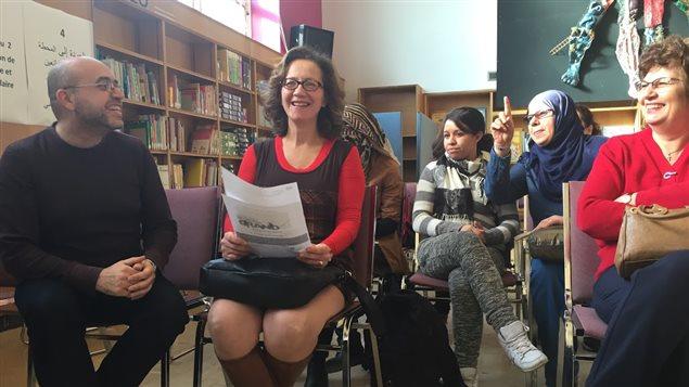Une classe de francisation à Montréal