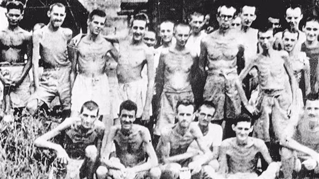 Canadian prisoners of war in Hong Kong. Many died of starvation, disease, and brutal treatment by the Japanese