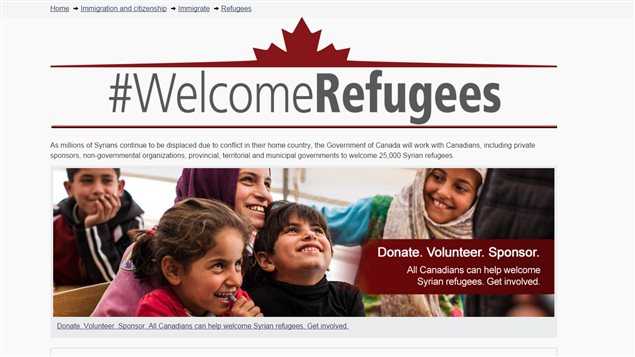 A government of Canada website details the progress of plans to resettle 25,000 Syrian refugees in this country and invites Canadians to welcome them.