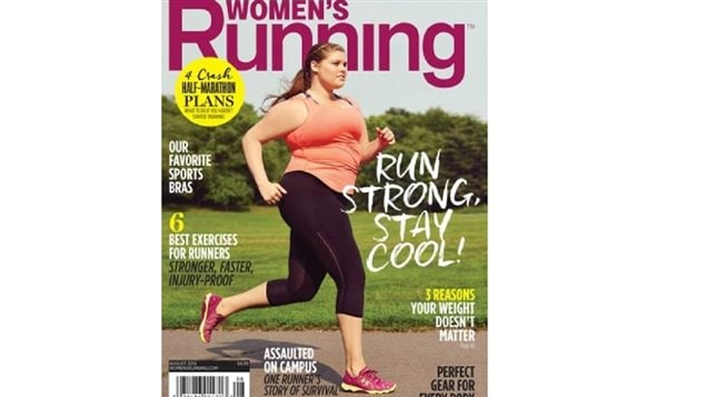 Plus-size model Erica Schenk appears on the cover of the August issue of Women's Running.
