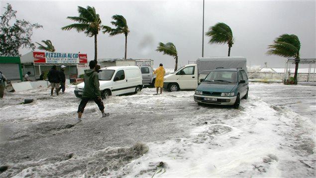 Cyclone sur Saint-Paul de la Réunion 2007