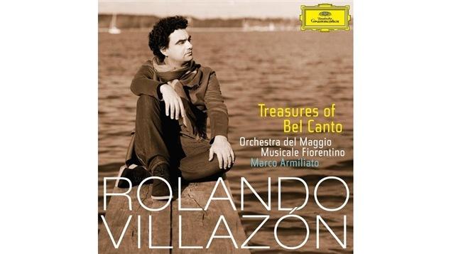 Pochette de l'album <i>Trasures of Bel Canto</i> de Rolando Villazón, paru sous étiquette Deutsche Grammophon