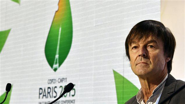 L'envoyé spécial du président français François Hollande pour la protection de la planète Nicolas Hulot