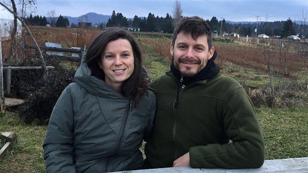 Véronique Bouchard et François Hanfield de la Ferme aux petits oignons