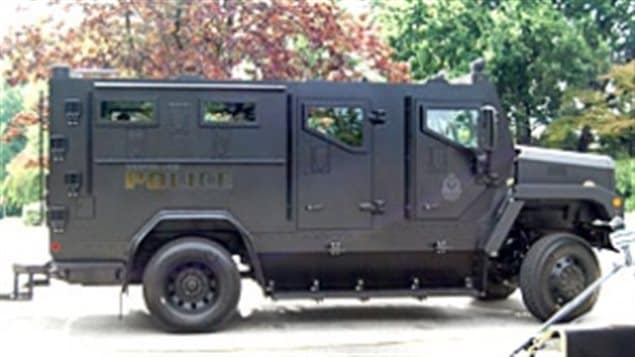 Vancouver British Columbia acquired this armoured truck in 2010 at a cost of about $350,000.