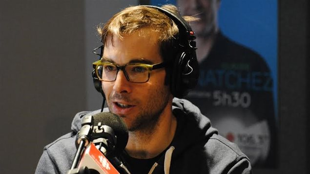 David Desjardins au micro d'ICI Radio-Canada Première