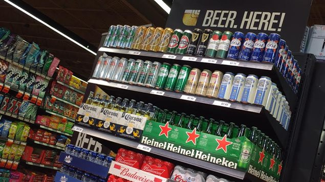 Étalage de bière