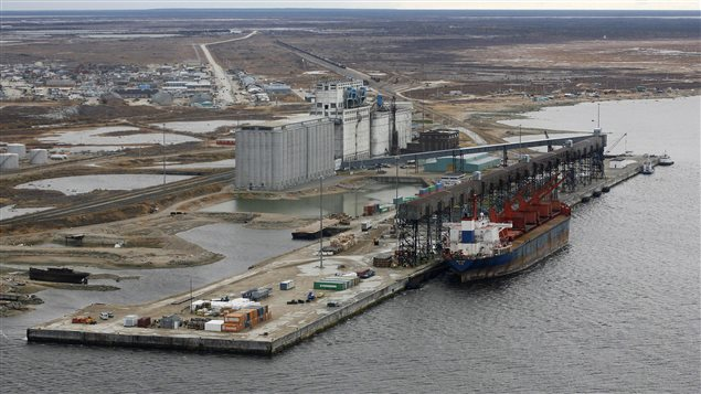 An aerial view of the port of Churchill, Manitoba, October 5, 2007.