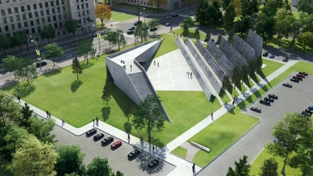 The winning design for the National Memorial to Victims of Communism. The Liberal government scrapped it Thursday, saying it will launch a new competition.