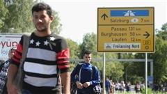 Des migrants en Allemagne, près de la frontière autrichienne