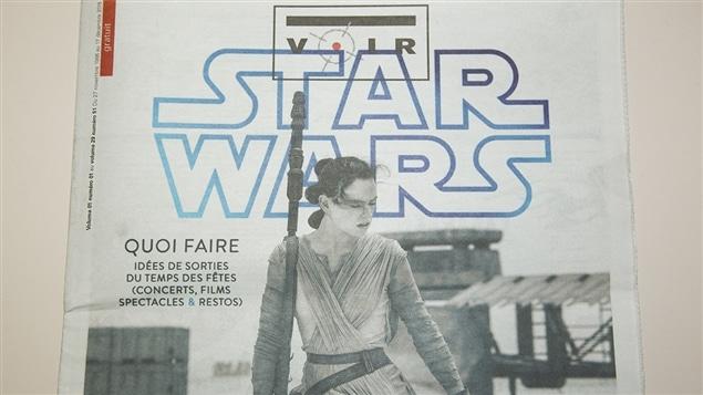 Page couverture de la dernière édition du journal <i>Voir</i>, parue le 17 décembre