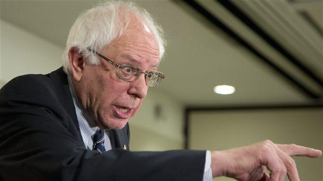 Bernie Sanders faisant campagne à Washington, le 17 décembre 2015