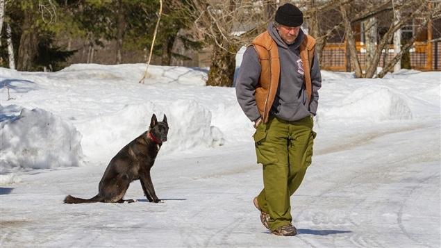Gino Roussel et son chien Trevor