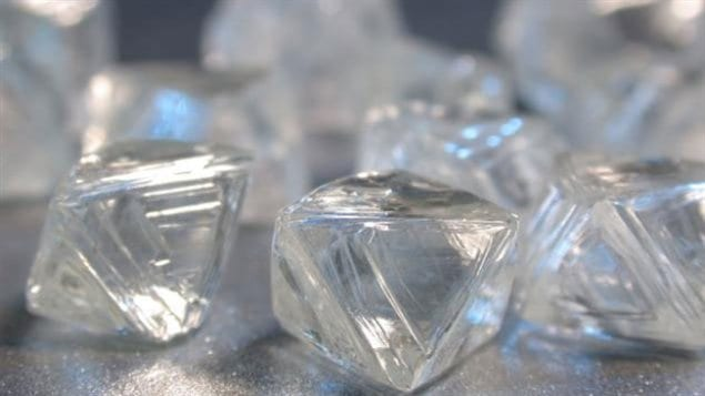 Rough diamonds from the Victor mine in Northern Ontario. The royalty regime on diamonds has been secret