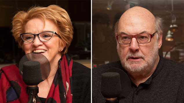 La psychologue Rose-Marie Charest et l'animateur René Homier-Roy