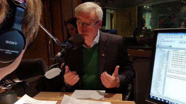 Le premier ministre du Manitoba, Greg Selinger (21 décembre 2015)