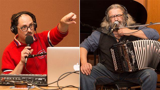 Le DJ Socalled et le chanteur Yves Lambert