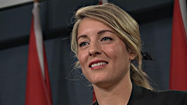 La  nueva ministra del Patrimonio Canadiense, Mélanie Joly,