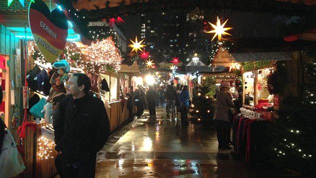 Le marché de Noël à Vancouver