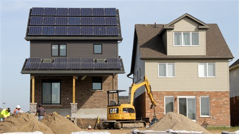 Five production builders in Canada have almost completed their projects to develop strategies for affordable net-zero energy housing. These single-family homes are being constructed in Guelph, Ontario, by Reid's Heritage Homes.