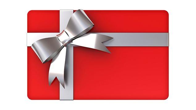 Une carte-cadeau