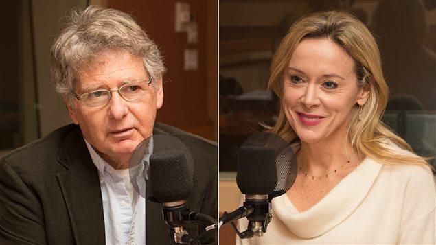L'homme politique John Parisella et la journaliste Esther Bégin