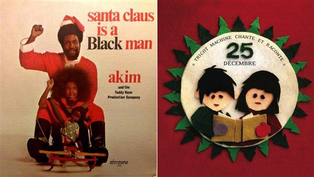 Les couvertures des albums <i>Santa Claus is a Black Man</i> et <i>25 décembre</i>