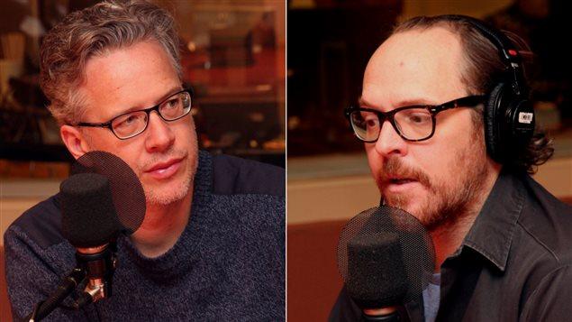 Marc Cassivi, chroniqueur culturel, et Fabien Cloutier, auteur et comédien