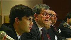 Mario Dumont et Jean Allaire lors de la fondation de l'ADQ en 1994