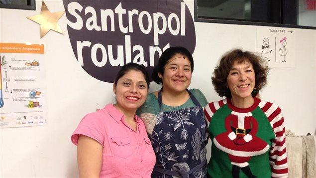 Des bénévoles issues de l'immigration au Santropol roulant de Montréal