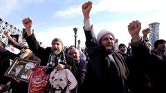 Des milliers d'Iraniens ont dénoncé l'exécution du cheikh Al-Nimr lors d'une manifestation organisée place Imam-Hossein, à Téhéran.
