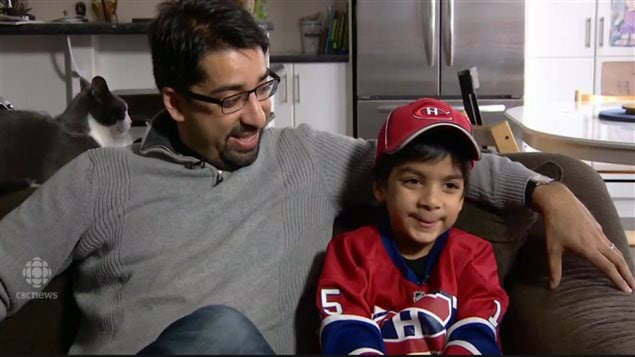 Sulemaan Ahmed and his young son Syed Adam are both big Montreal Canadiens hockey fans, but when travelling to a game in the US were held up at the border because his son has been classed as a security risk.