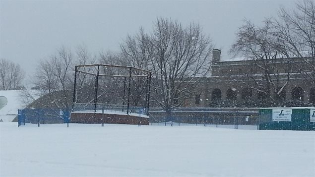 January 2016 The skeleton of the old bandstand in Mount Royal park stands with apparently little action taken to continue it's long overdue restoration in honour of world renowned novelist Mordecai Richler