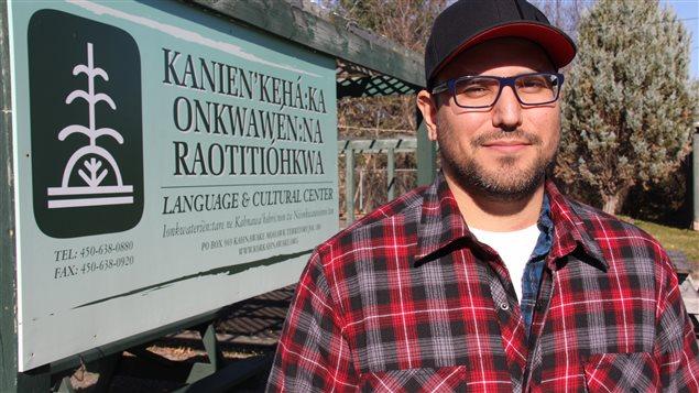 Akwiratéhka Martin est enseignant au Centre culturel de Kahnawake.