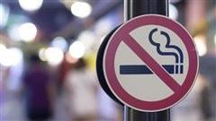Un panneau signalant l'interdiction de fumer